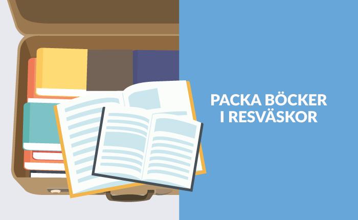 Böcker packas bra i resväska