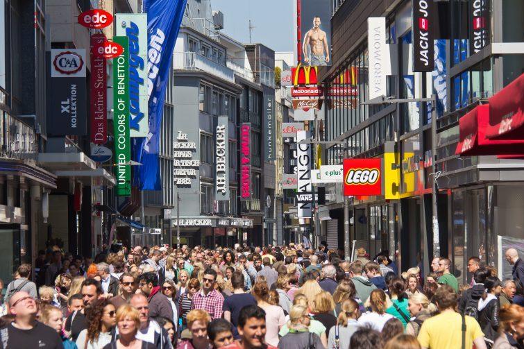 Kölns gångtrafikantzon - som man kan gå i om man flyttar till Köln
